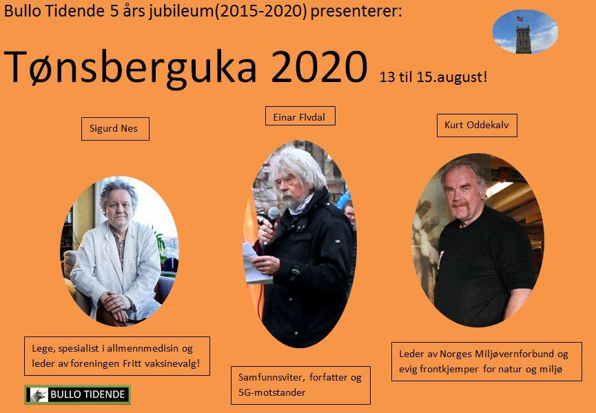 Tre frontfigurer i Tønsberguka