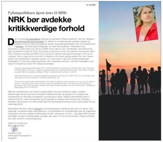 NRK bør avdekke kritikkverdige forhold Heart Brev 13-07-2021